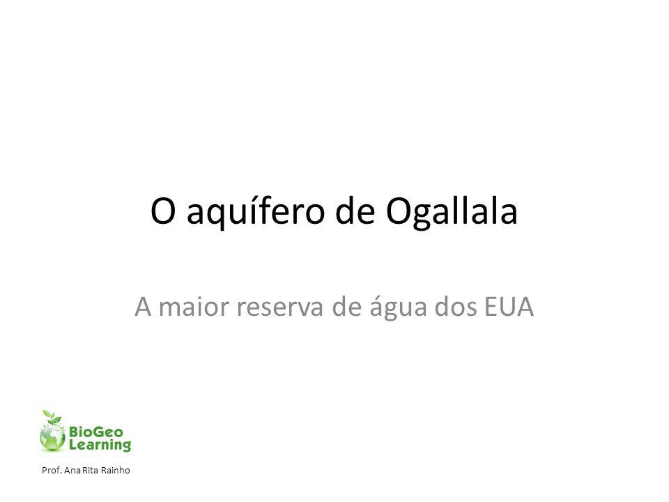 O aquífero de Ogallala A maior reserva de água dos EUA Prof. Ana Rita Rainho