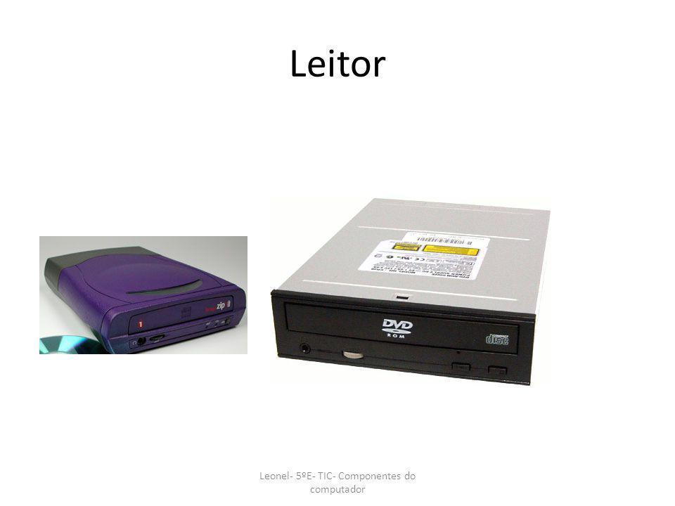 Leitor Leonel- 5ºE- TIC- Componentes do computador