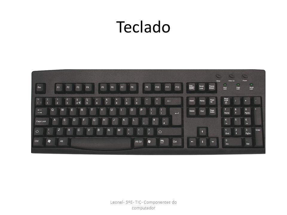 Teclado Leonel- 5ºE- TIC- Componentes do computador