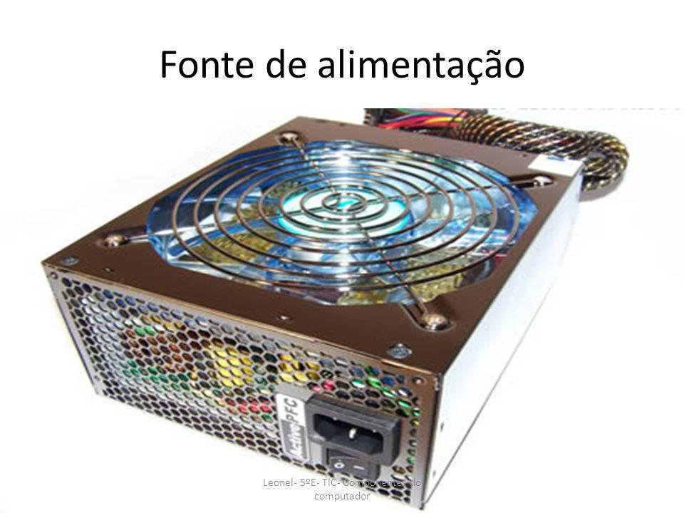 Ventoinha Leonel- 5ºE- TIC- Componentes do computador