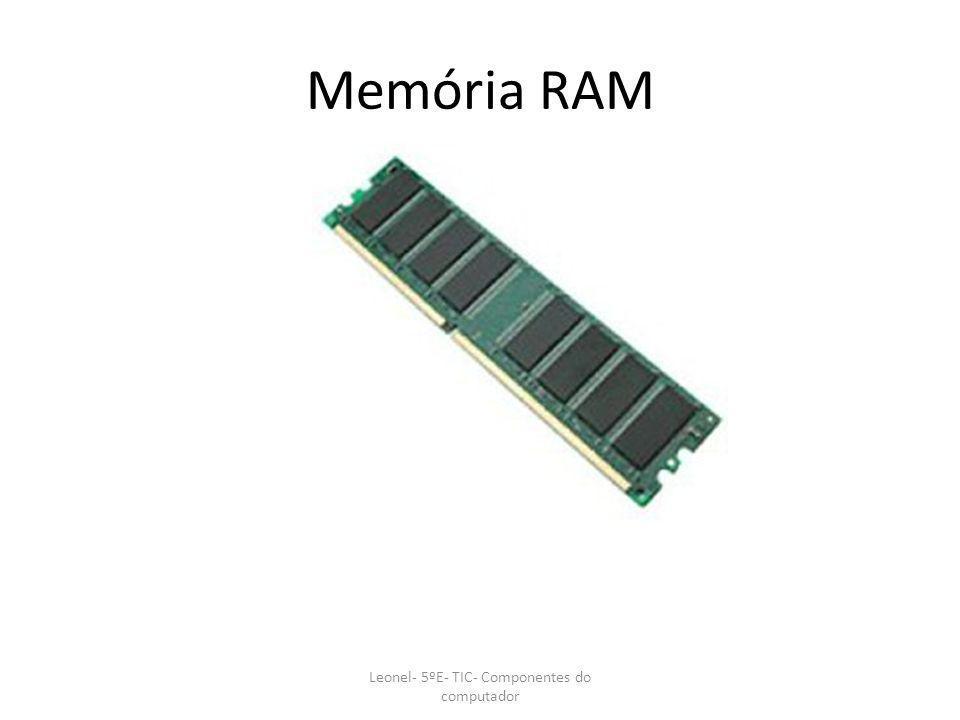 Memória RAM Leonel- 5ºE- TIC- Componentes do computador
