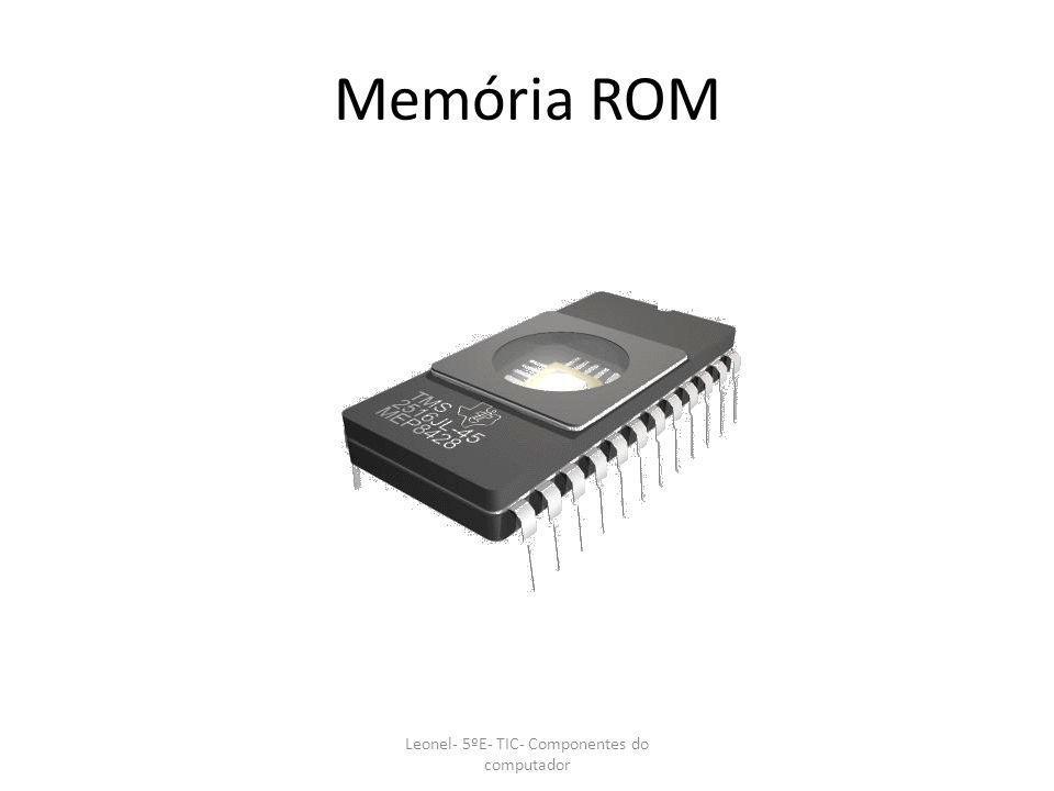 MEMORIA CACHE Leonel- 5ºE- TIC- Componentes do computador