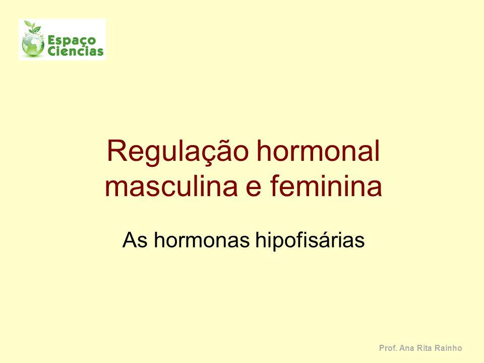 Regulação hormonal masculina e feminina As hormonas hipofisárias Prof. Ana Rita Rainho