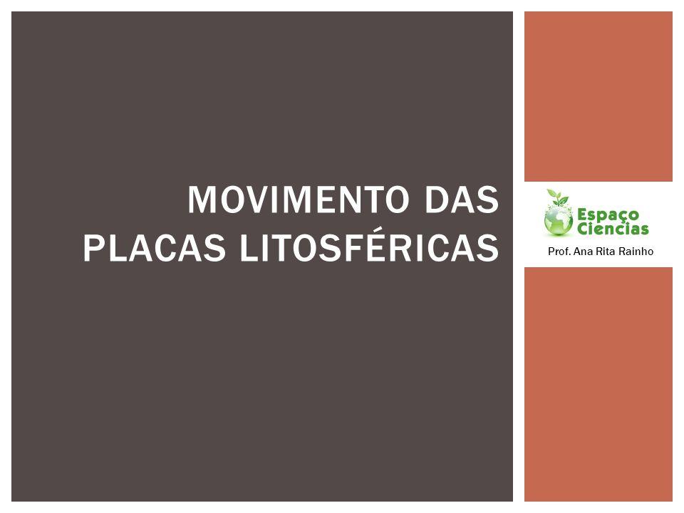 MOVIMENTO DAS PLACAS LITOSFÉRICAS Prof. Ana Rita Rainho