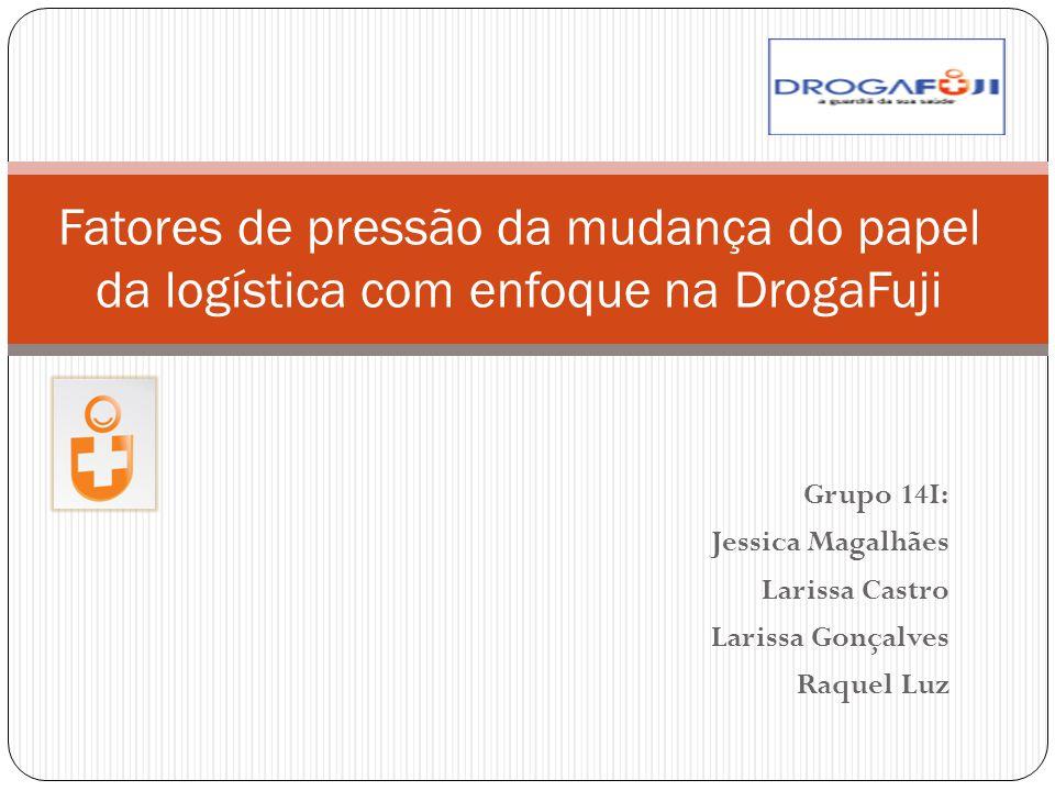 Grupo 14I: Jessica Magalhães Larissa Castro Larissa Gonçalves Raquel Luz Fatores de pressão da mudança do papel da logística com enfoque na DrogaFuji