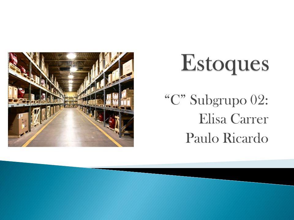 C Subgrupo 02: Elisa Carrer Paulo Ricardo