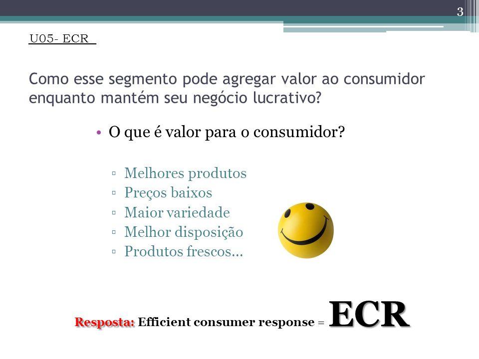 U05- ECR Como esse segmento pode agregar valor ao consumidor enquanto mantém seu negócio lucrativo.