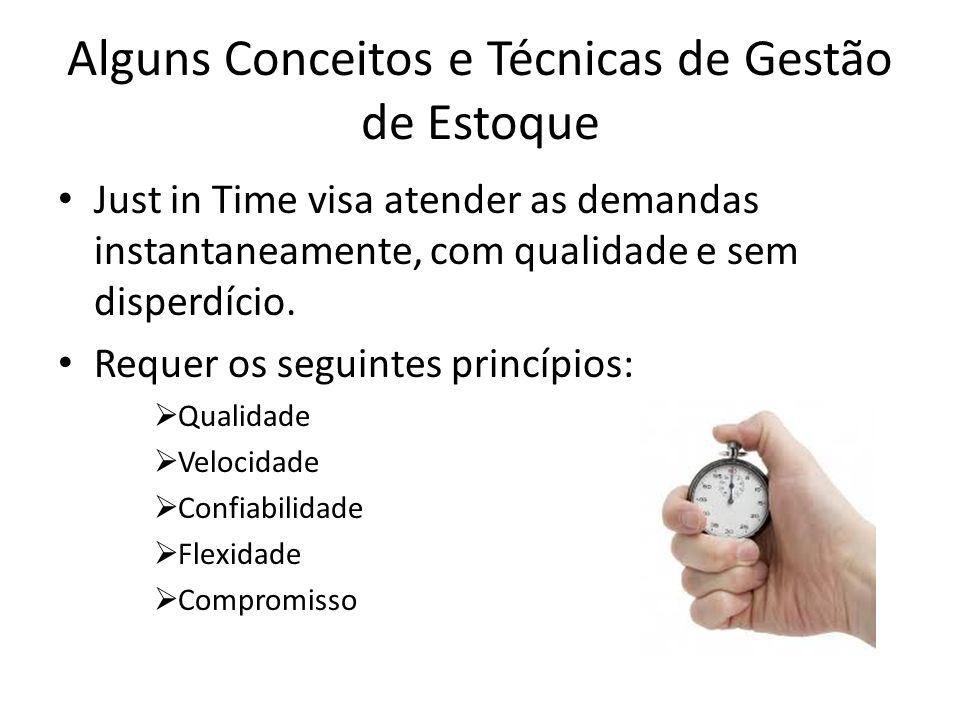 Alguns Conceitos e Técnicas de Gestão de Estoque Just in Time visa atender as demandas instantaneamente, com qualidade e sem disperdício.