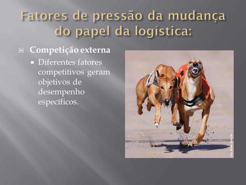 Competição externa Diferentes fatores competitivos geram objetivos de desempenho específicos.