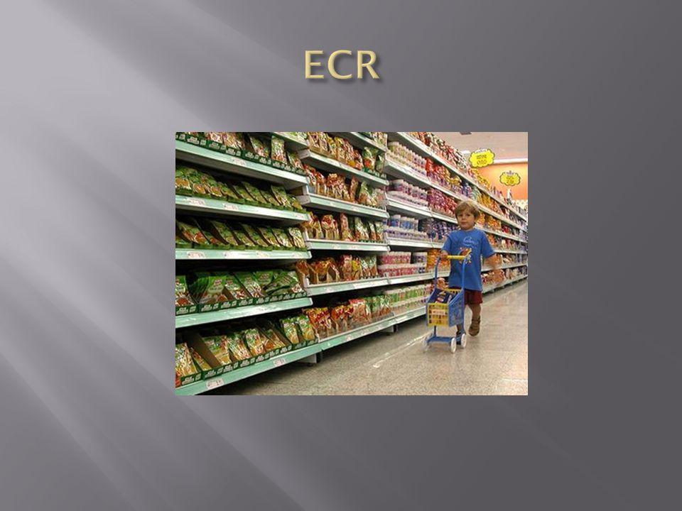 O ECR é uma iniciativa em que fabricantes de produtos alimentares e não alimentares, varejo, atacado e demais facilitadores trabalham em conjunto para reduzir custos dessa cadeia de logística integrada e trazer maior valor ao consumidor de supermercados (elo final dessa cadeia).