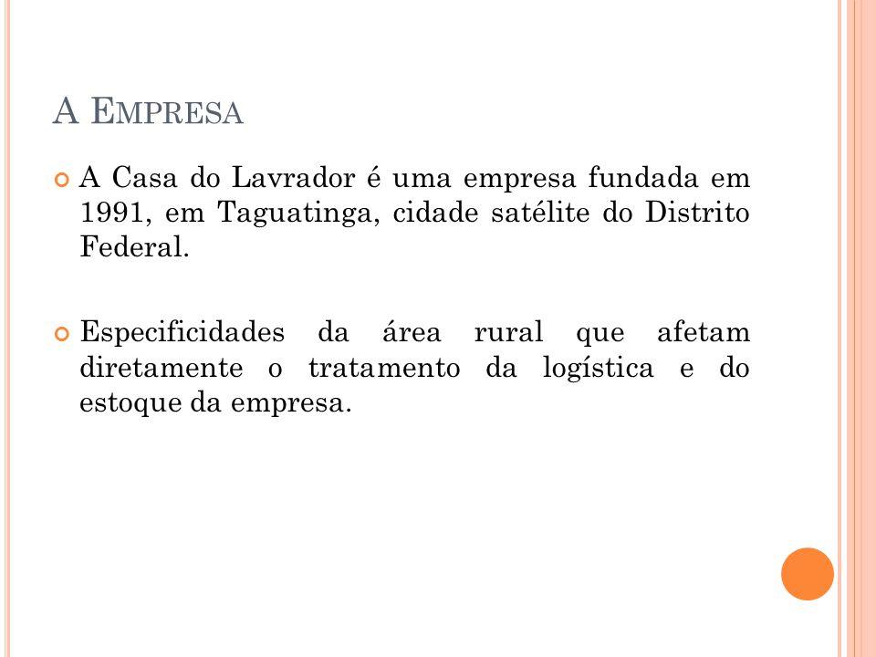 A E MPRESA A Casa do Lavrador é uma empresa fundada em 1991, em Taguatinga, cidade satélite do Distrito Federal.