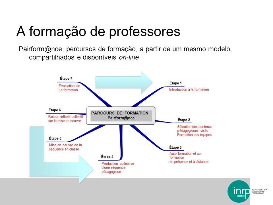 A formação de professores Pairform@nce, percursos de formação, a partir de um mesmo modelo, compartilhados e disponíveis on-line