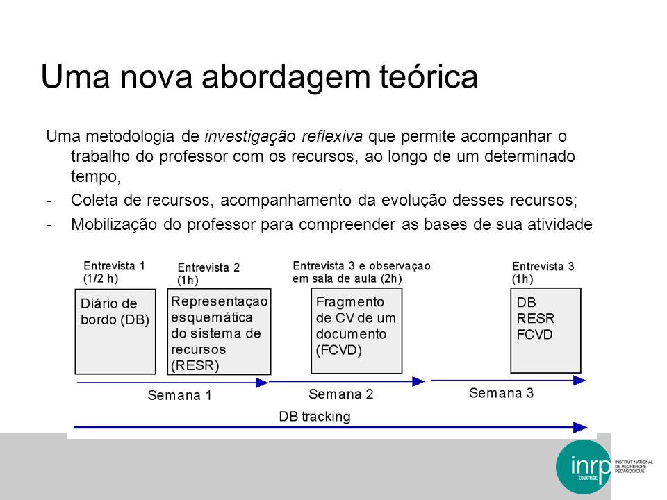 Uma metodologia de investigação reflexiva que permite acompanhar o trabalho do professor com os recursos, ao longo de um determinado tempo, -Coleta de