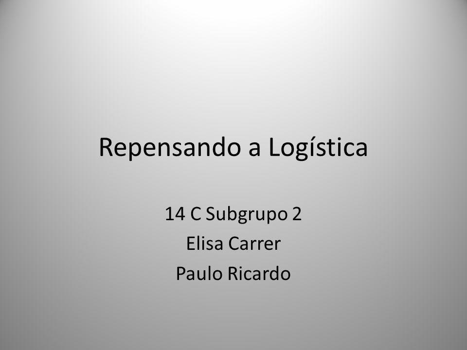 Repensando a Logística 14 C Subgrupo 2 Elisa Carrer Paulo Ricardo