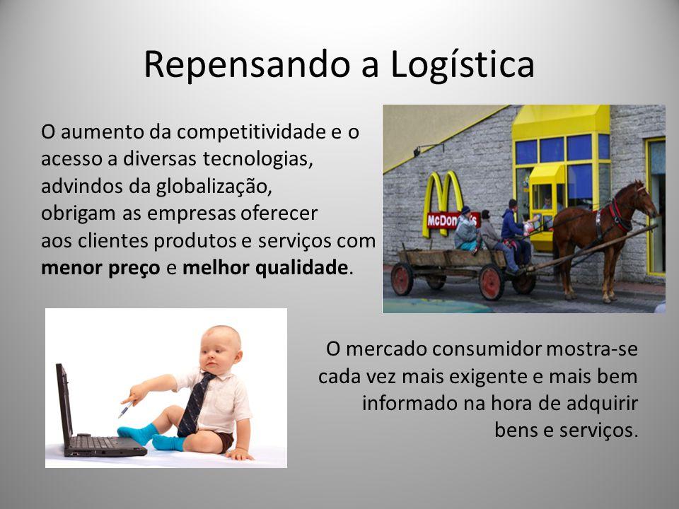 Repensando a Logística O aumento da competitividade e o acesso a diversas tecnologias, advindos da globalização, obrigam as empresas oferecer aos clientes produtos e serviços com menor preço e melhor qualidade.