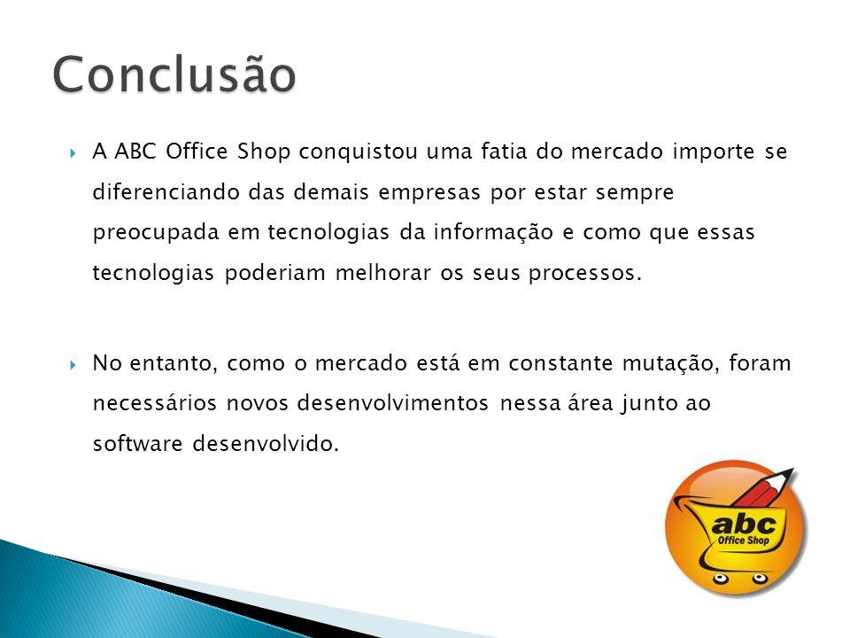 A ABC Office Shop conquistou uma fatia do mercado importe se diferenciando das demais empresas por estar sempre preocupada em tecnologias da informaçã
