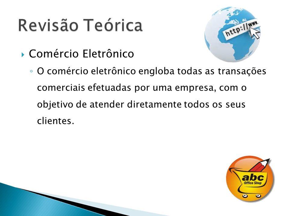 Comércio Eletrônico O comércio eletrônico engloba todas as transações comerciais efetuadas por uma empresa, com o objetivo de atender diretamente todo