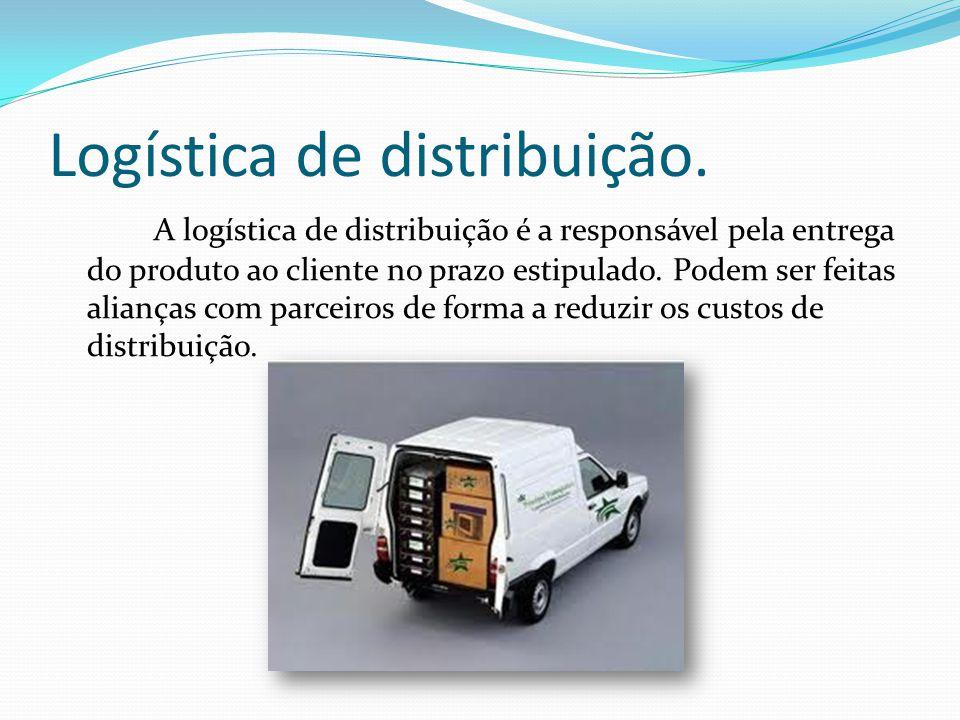 Logística de distribuição.
