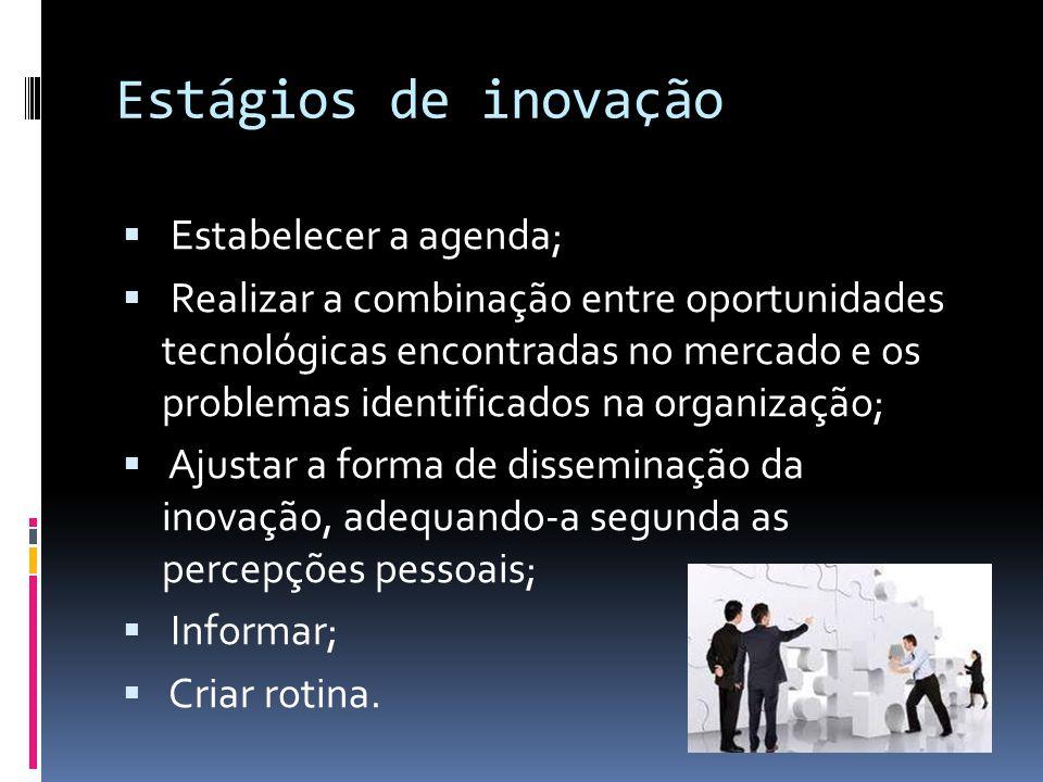 Conceito inovação Inovar é influenciar a destruição criadora, é introduzir novos produtos, construir novos métodos de produção, abrir novos mercados, conquistar novas fontes de suprimento e introduzir novas formas de organização.