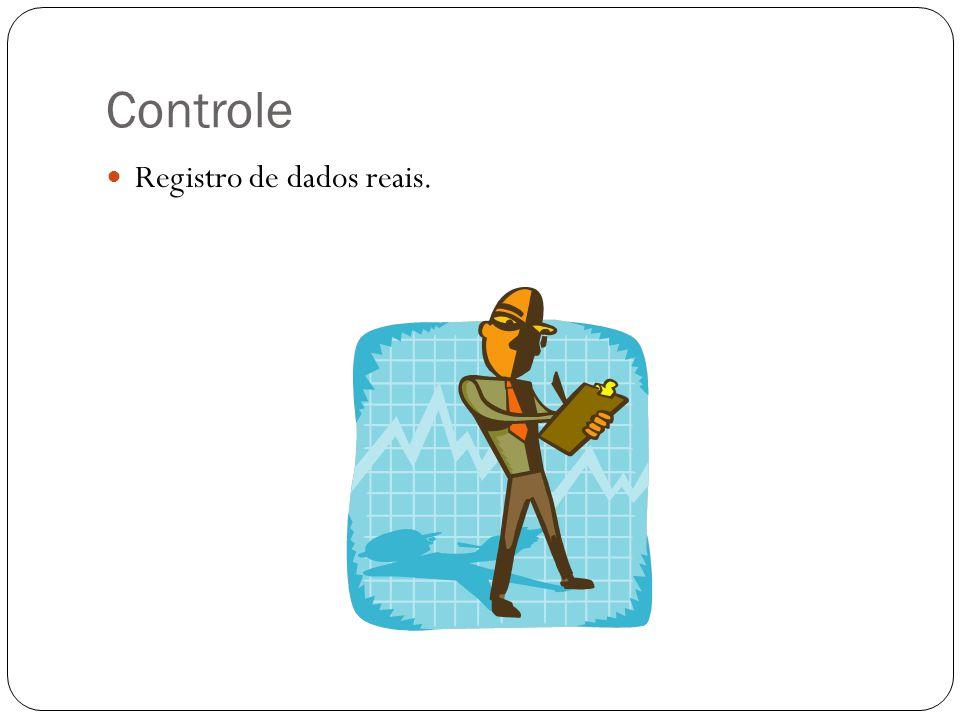 Controle Registro de dados reais.