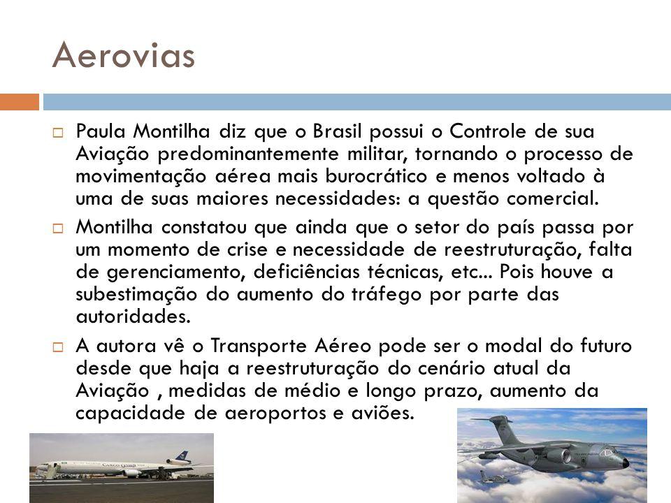 Aerovias Paula Montilha diz que o Brasil possui o Controle de sua Aviação predominantemente militar, tornando o processo de movimentação aérea mais bu