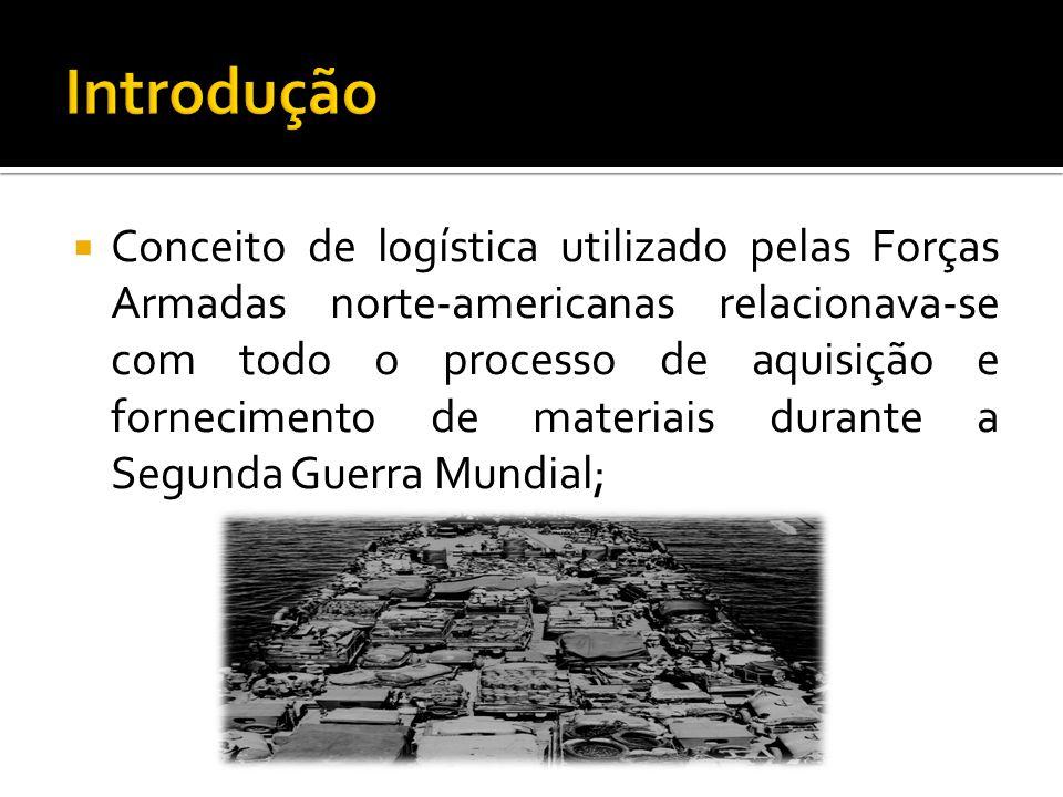 Conceito de logística utilizado pelas Forças Armadas norte-americanas relacionava-se com todo o processo de aquisição e fornecimento de materiais dura