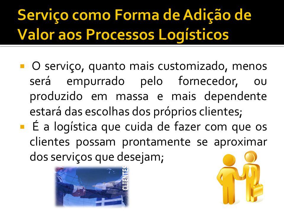 O serviço, quanto mais customizado, menos será empurrado pelo fornecedor, ou produzido em massa e mais dependente estará das escolhas dos próprios cli