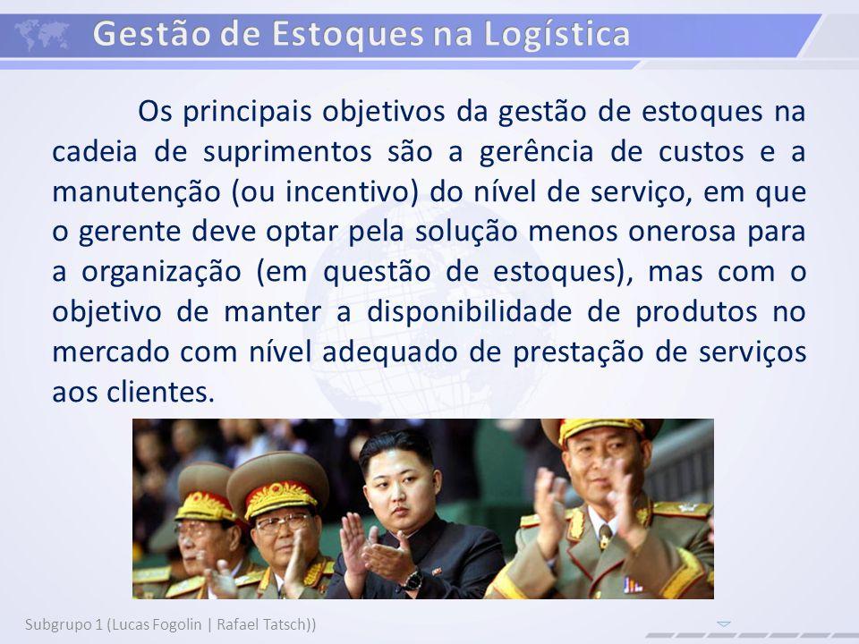 Subgrupo 1 (Lucas Fogolin | Rafael Tatsch) Manter um estoque também significa assumir riscos relacionados a uma demanda incerta.