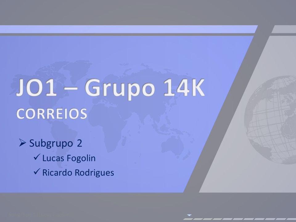 Subgrupo 2 Lucas Fogolin Ricardo Rodrigues Subgrupo 1 (Lucas Fogolin)