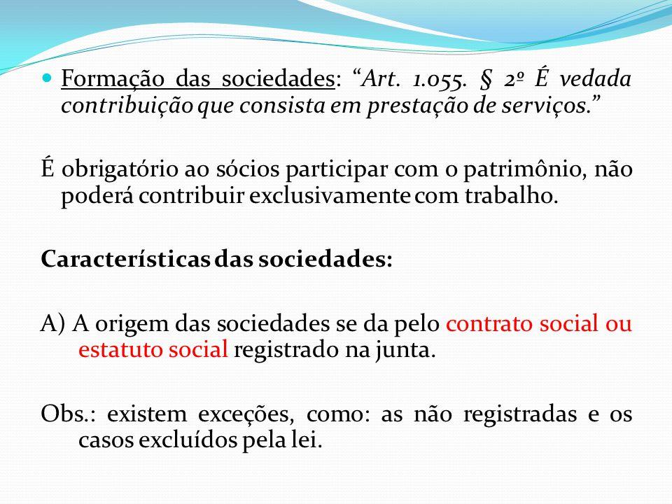 Formação das sociedades: Art.1.055.