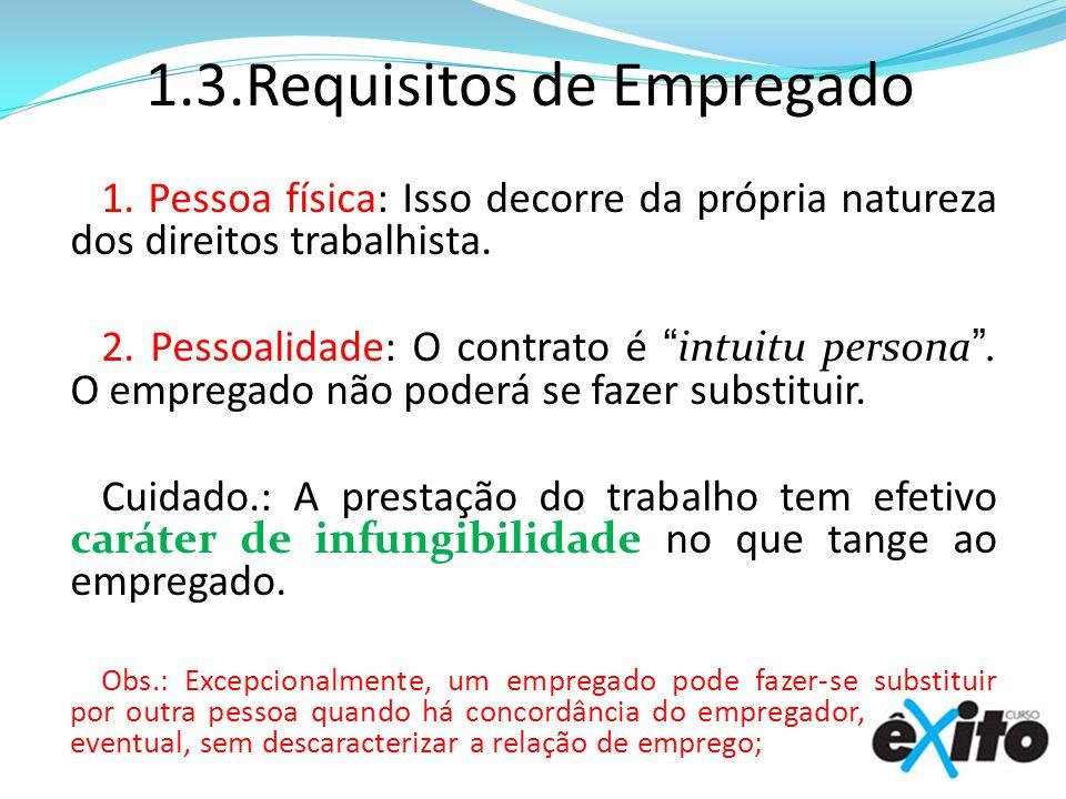 1.3.Requisitos de Empregado 1.