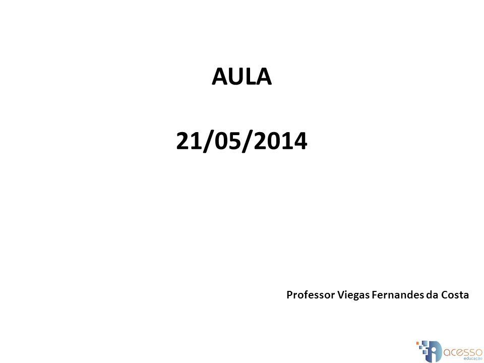 AULA 21/05/2014 Professor Viegas Fernandes da Costa