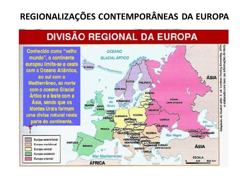 EUROPA – POPULAÇÃO e ECONOMIA (Características Gerais) Mal distribuída, maior concentração populacional na região centro ocidental do continente.