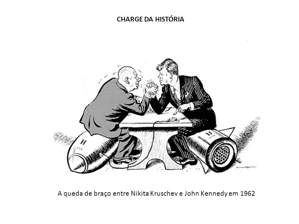 CHARGE DA HISTÓRIA A queda de braço entre Nikita Kruschev e John Kennedy em 1962