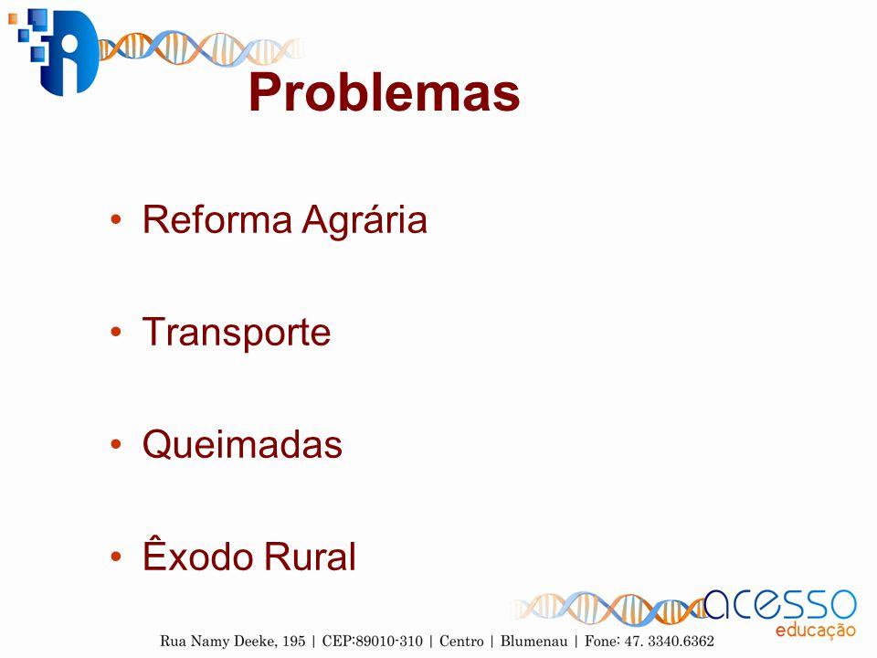 Problemas Reforma Agrária Transporte Queimadas Êxodo Rural