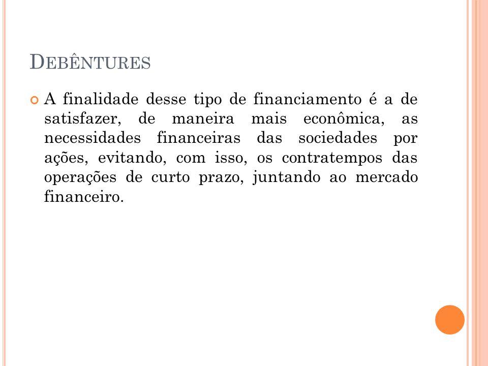 I NVESTIMENTOS T EMPORÁRIOS Critérios de Avaliação: Custo de aquisição, acrescidos de juros e atualização monetária; Valor de mercado, se menor.