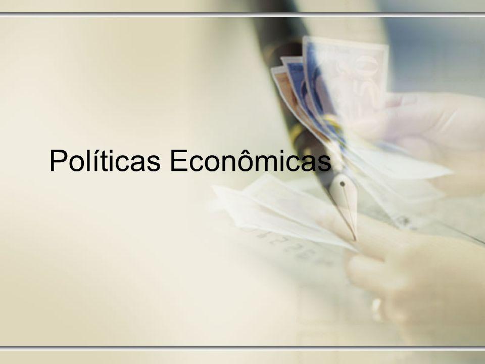 Política Monetária Controle da taxa de juros –Quando deseja estimular o consumo e gerar emprego, o Banco Central aumenta a oferta monetária, diminuindo assim, a taxa média de juros do mercado.
