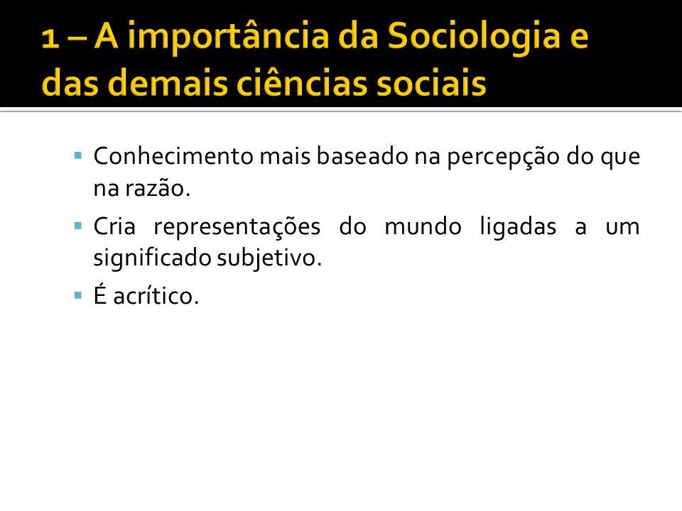O que é a Sociologia.
