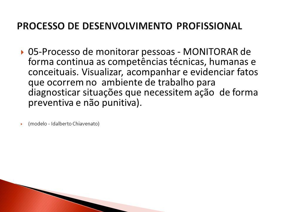 05-Processo de monitorar pessoas - MONITORAR de forma continua as competências técnicas, humanas e conceituais.