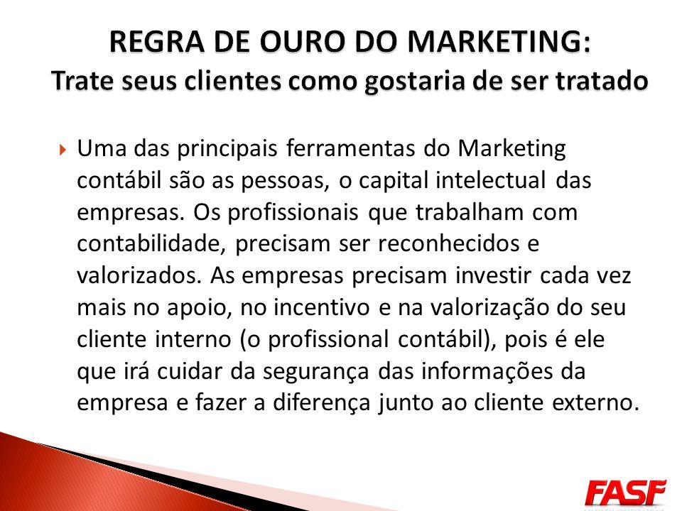 Uma das principais ferramentas do Marketing contábil são as pessoas, o capital intelectual das empresas. Os profissionais que trabalham com contabilid