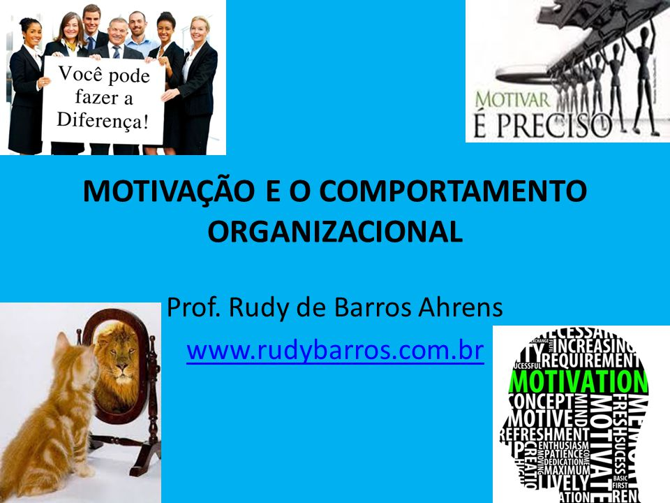 MOTIVAÇÃO E O COMPORTAMENTO ORGANIZACIONAL Prof. Rudy de Barros Ahrens www.rudybarros.com.br