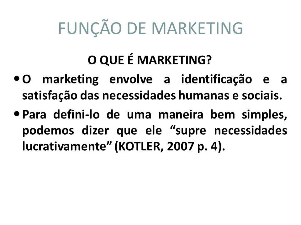 O QUE É MARKETING? O marketing envolve a identificação e a satisfação das necessidades humanas e sociais. Para defini-lo de uma maneira bem simples, p