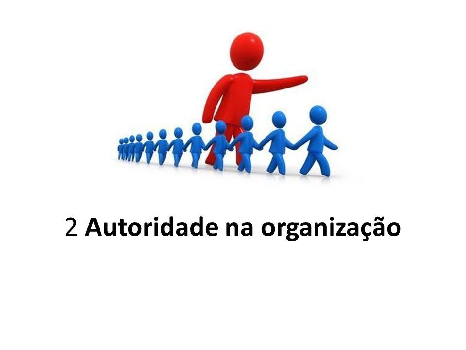 2 Autoridade na organização