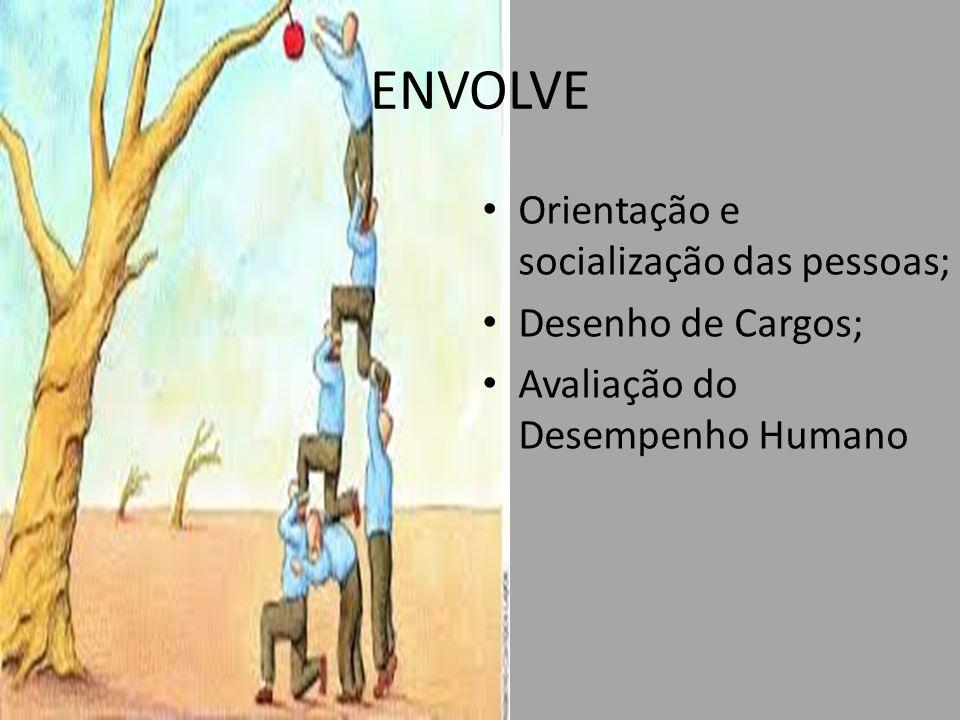 ENVOLVE Orientação e socialização das pessoas; Desenho de Cargos; Avaliação do Desempenho Humano