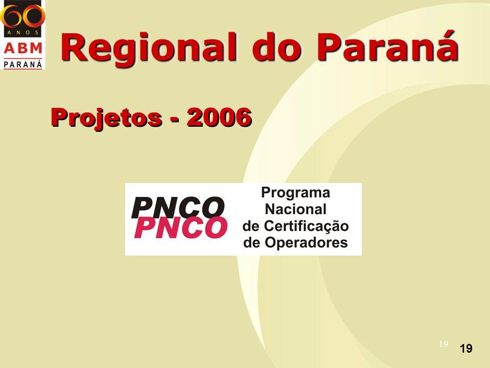 19 Regional do Paraná Projetos - 2006