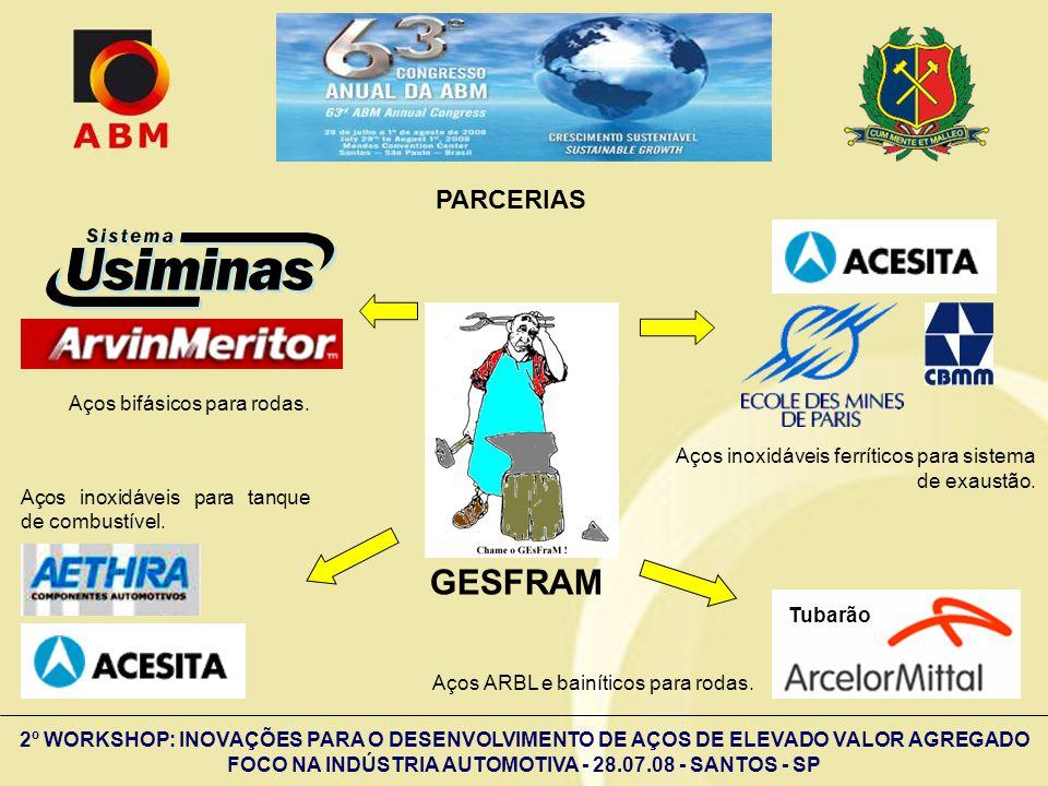 2º WORKSHOP: INOVAÇÕES PARA O DESENVOLVIMENTO DE AÇOS DE ELEVADO VALOR AGREGADO FOCO NA INDÚSTRIA AUTOMOTIVA - 28.07.08 - SANTOS - SP GESFRAM Aços bif
