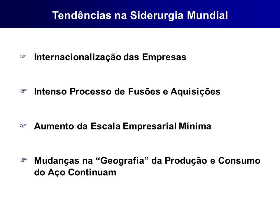 FInternacionalização das Empresas FIntenso Processo de Fusões e Aquisições FAumento da Escala Empresarial Mínima FMudanças na Geografia da Produção e