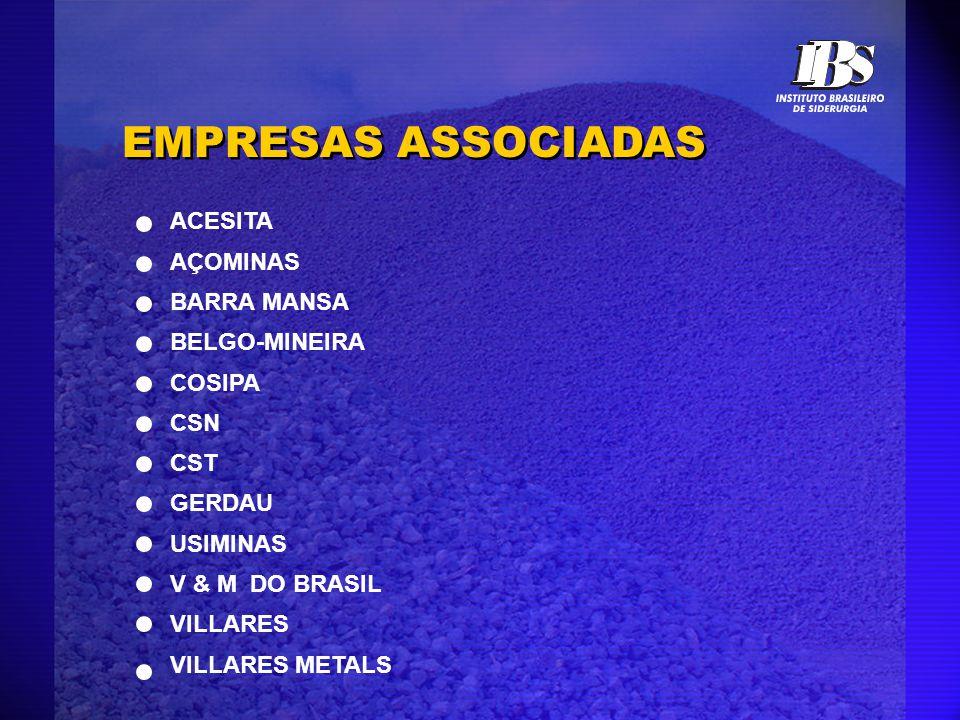 EMPRESAS ASSOCIADAS ACESITA AÇOMINAS BARRA MANSA BELGO-MINEIRA COSIPA CSN CST GERDAU USIMINAS V & M DO BRASIL VILLARES VILLARES METALS