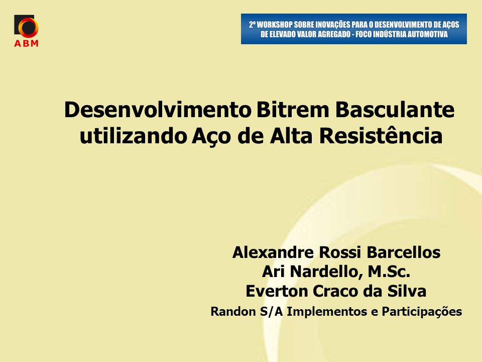 Alexandre Rossi Barcellos Ari Nardello, M.Sc.