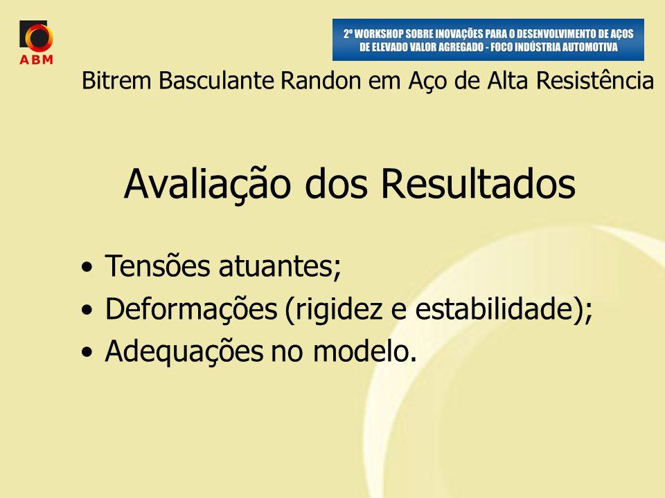 Avaliação dos Resultados Tensões atuantes; Deformações (rigidez e estabilidade); Adequações no modelo.
